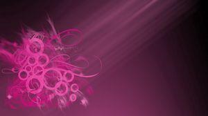 Превью обои розовый, узор, лучи, круги