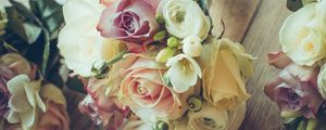 Превью обои розы, букет, композиция, оформление