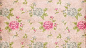Превью обои розы, текстура, листья, цветы