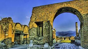 Превью обои руины, развалины, италия, рим, каменный, hdr