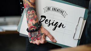 Превью обои рука, татуировки, надпись, каллиграфия, дизайн