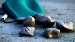 Превью обои руны, магия, камни, арт, формы