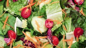 Превью обои салат, овощи, листья
