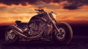 Превью обои sandra dombrovsky, байк, мотоцикл, стиль