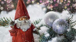 Превью обои санта клаус, дед мороз, новый год, статуэтка
