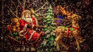 Превью обои санта клаус, новый год, рождество, игрушки, статуэтка
