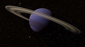 Превью обои сатурн, планета, космос, кольца, пояс