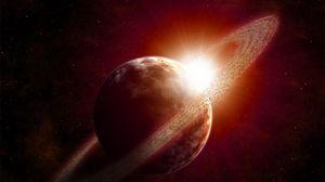 Превью обои сатурн, планета, круг, космос
