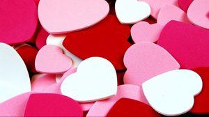 Превью обои сердца, валентинки, признание, яркие