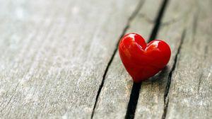 Превью обои сердце, поверхность, любовь