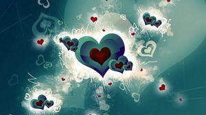 Превью обои сердце, романтика, яркий