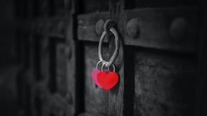 Превью обои сердечки, замок, ворота, темный