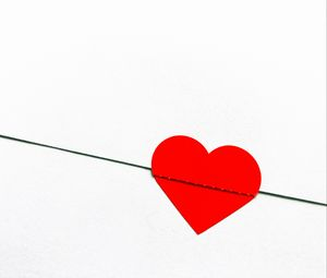 Превью обои сердечко, любовь, конверт, красный