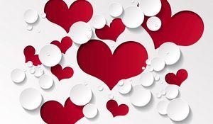 Превью обои сердца, форма, рисунок