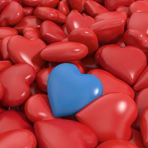 Превью обои сердце, красный, голубой, 3d