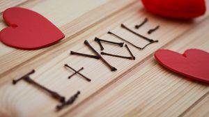 Превью обои сердце, палочки, любовь, признание