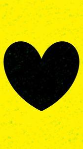 Превью обои сердце, желтый, блеск, арт