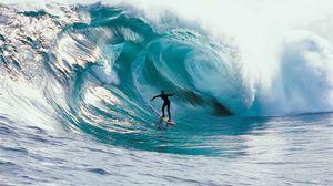 Превью обои серфинг, скорость, волна, спорт