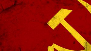 Превью обои серп и молот, ссср, россия, символ, флаг