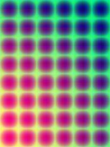 Превью обои сетка, пятна, градиент, разноцветный, яркий, абстракция