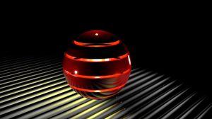 Превью обои сфера, свет, 3d, шар, пространство