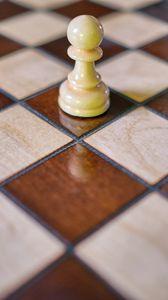 Превью обои шахматы, фигура, пешка, доска, игра