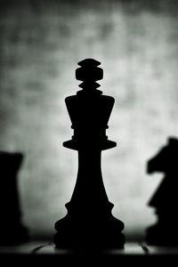 Превью обои шахматы, фигуры, темный, игра, король