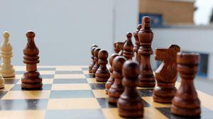 Превью обои шахматы, шахматная доска, фигуры