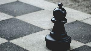 Превью обои шахматы, слон, фигура, чб