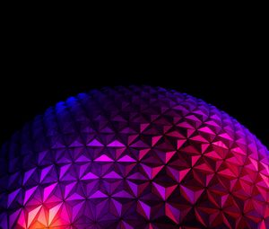 Превью обои шар, поверхность, рельеф, градиент, фиолетовый