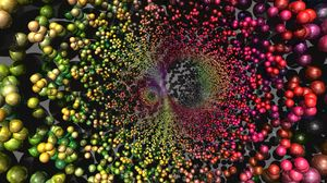 Превью обои шары, днк, сфера, градиент, спектр