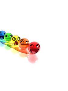 Превью обои смайл, улыбка, шары, разноцветный