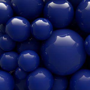 Превью обои шары, синий, гладкий, форма