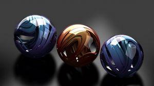 Превью обои шары, стекло, металл, гладкий, форма