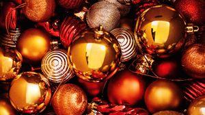 Превью обои шары, украшения, новый год, рождество, праздник