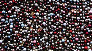 Превью обои шары, украшения, разноцветный, рождество, новый год