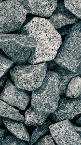 Превью обои щебень, камни, серый, макро