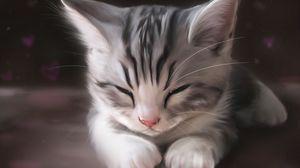 Превью обои шерсть, мех, усы, морда, лапы, кошка