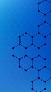 Превью обои шестигранники, форма, соединения, связь, геометрический