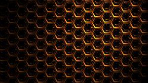 Превью обои шестиугольники, сетка, темный, тени