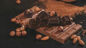 Превью обои шоколад, орехи, какао, коричневый