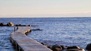 Превью обои швеция, море, берег, камни