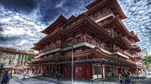 Превью обои сингапур, китайский квартал, будда, зуба будды, храм
