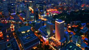 Превью обои сингапур, ночь, здания