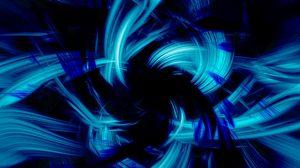 Превью обои синий, черный, абстракция, кисть