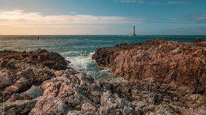 Превью обои скалы, море, вода, пейзаж