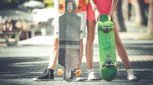 Превью обои скейт, скейтборд, спорт, хобби, лонгборд, доска
