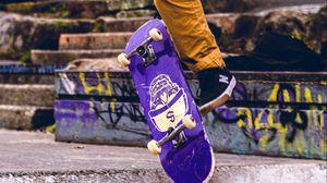 Превью обои скейт, скейтбордист, скейтбординг, улица