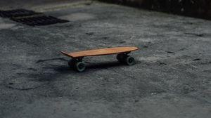 Превью обои скейт, улица, асфальт, городской, спорт