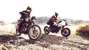 Превью обои скорость, дорога, гонка, мотоциклы